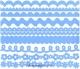Набор бумажных ленточек Just the Edge 4 Dotted Swiss 30,5 см Голубой